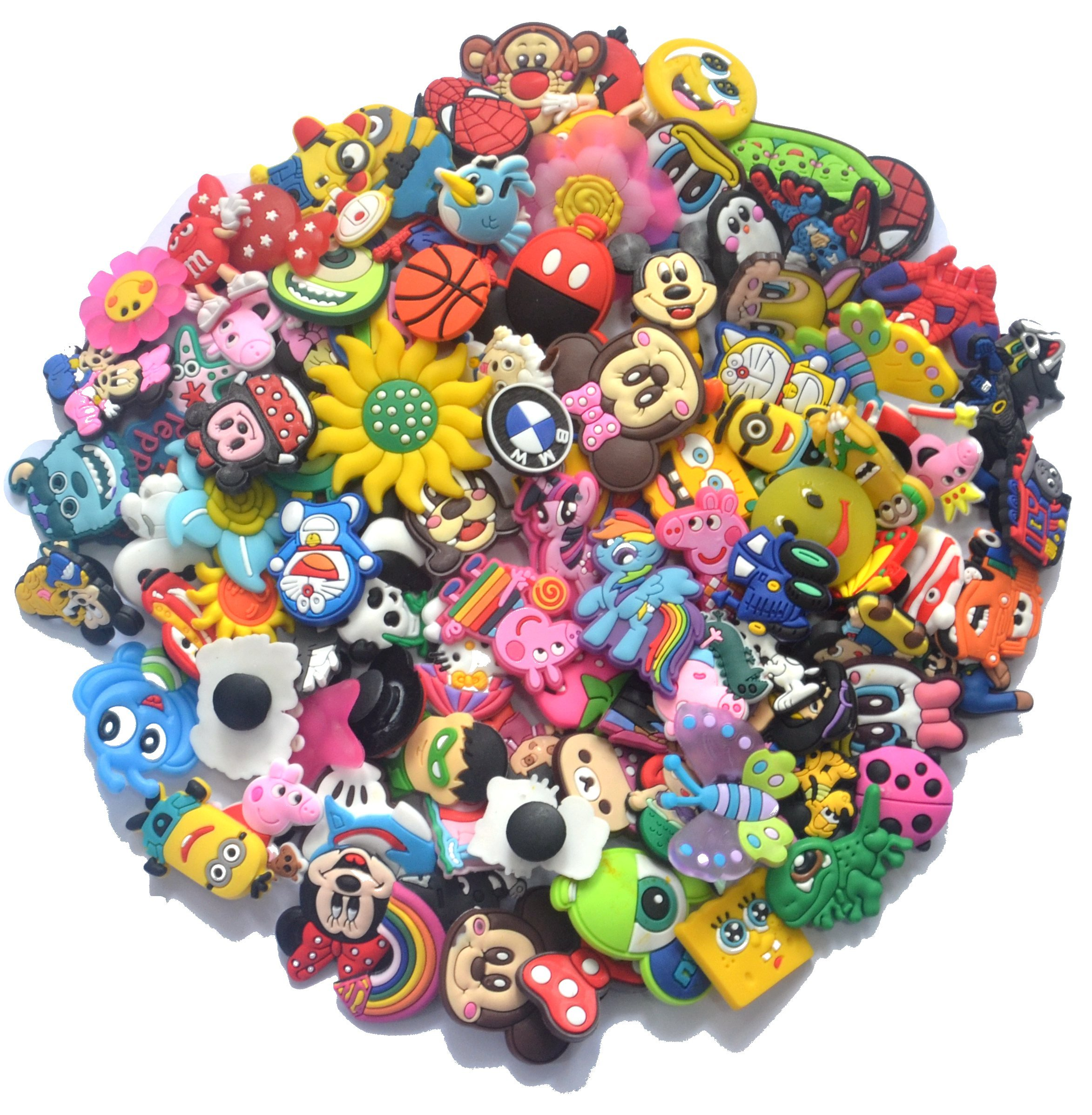YAOYAO™ Different 101 Pcs PVC Shoe Charms for Croc & Jibbitz Bands Bracelet Wristband For The Beach Camping