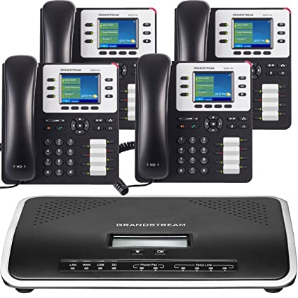 Business Phone System by Grandstream: Enhanced Package Including Auto  Attendant, Voicemail, Cell & Remote Phone Extensions, Call Recording & Free