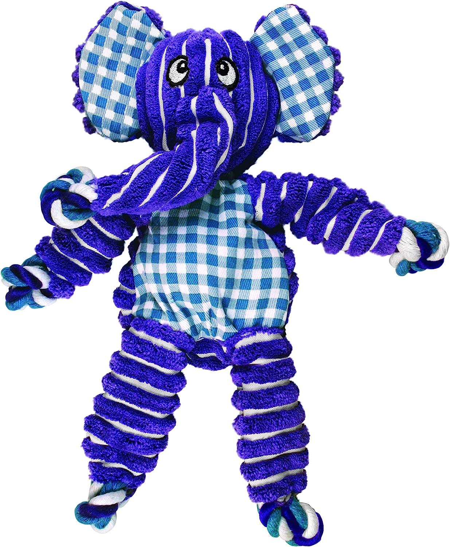 KONG - Floppy Knots Elephant - Juguete con Cuerdas internas antirrotura - para Perros Medianos/Grandes