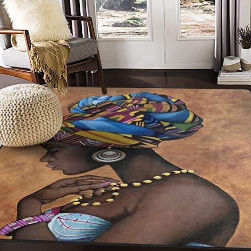 ALAZA Fashion American African Women Girl Area Rug Rug