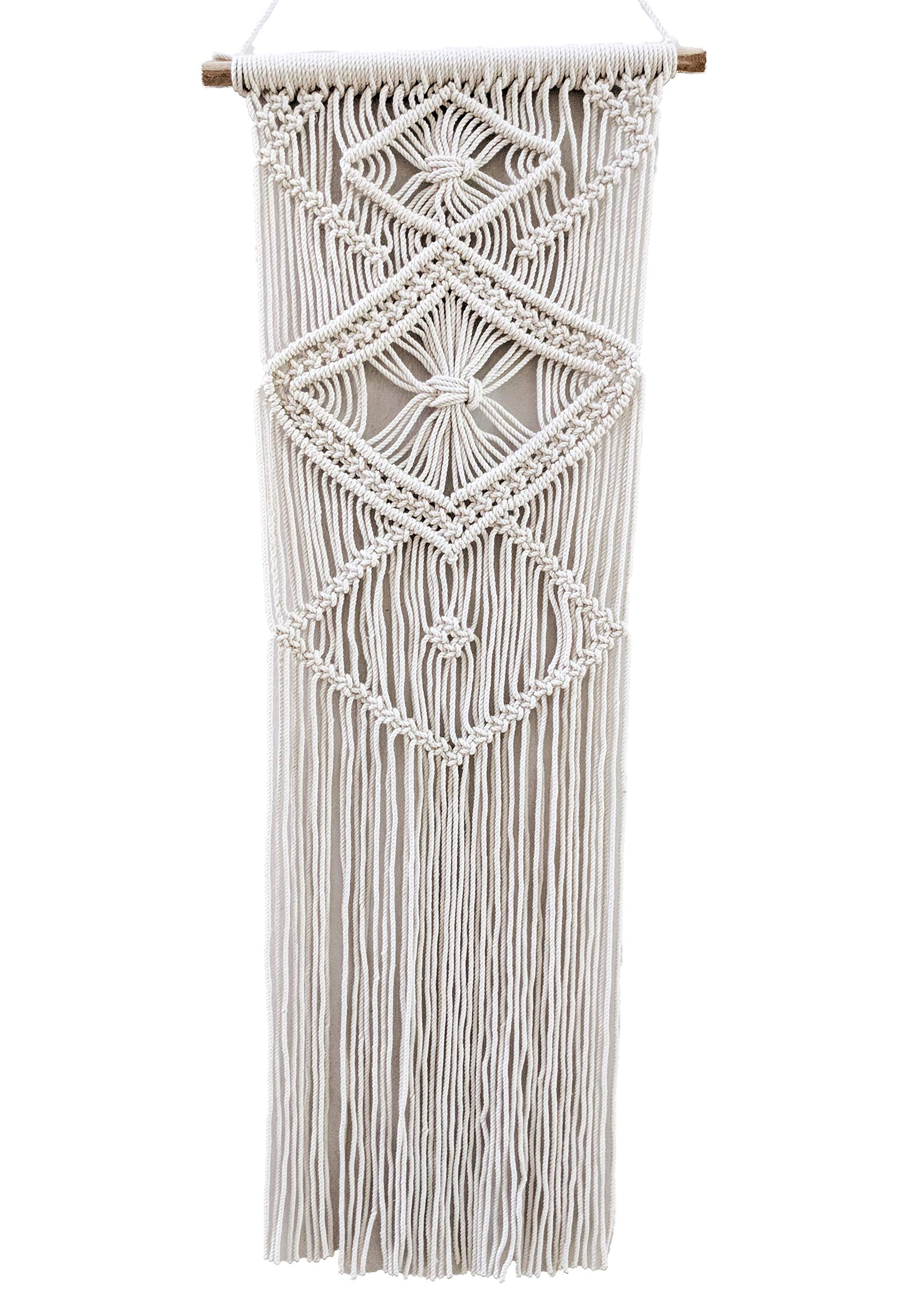 HERMOSO Macrame Wall Hanging Woven Tapestry Boho Home Decor