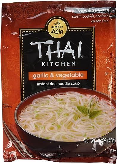 amazon com thai kitchen instant rice noodle soup garlic and rh amazon com thai kitchen rice noodles nutrition thai kitchen rice noodles calories