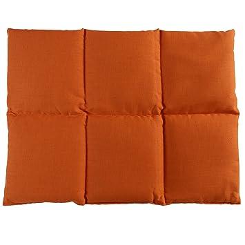 Cojín de semillas de lino | 40x30 naranja | Cojín de calor ...