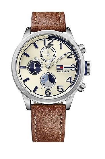 Reloj para hombre Tommy Hilfiger 1791239, mecanismo de cuarzo, diseño con varias esferas, correa de piel.: Tommy Hilfiger: Amazon.es: Relojes
