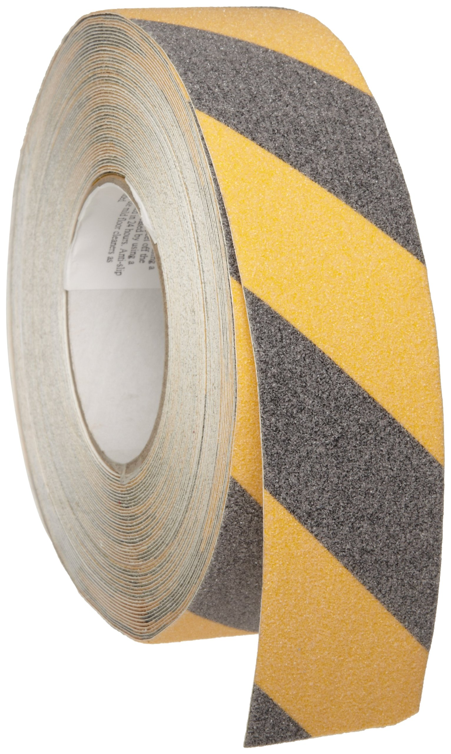 Brady 60' Length, 2'' Width, B-916 Grit-Coated Polyester Tape, Striped Special Black And Yellow Color Anti-Skid Tape