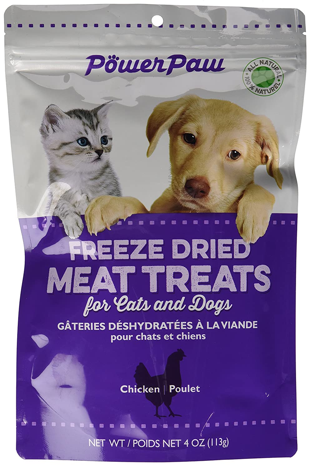 Power Paw Products Freeze Dried Chicken Piece, 4-Ounce/10 By 6.5 By 3-Inch