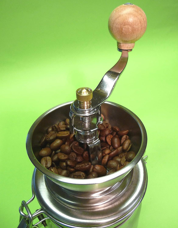 Kaffeem/ühle NOSTALGIE in wundersch/önem RETRO-DESIGN aus EDELSTAHL