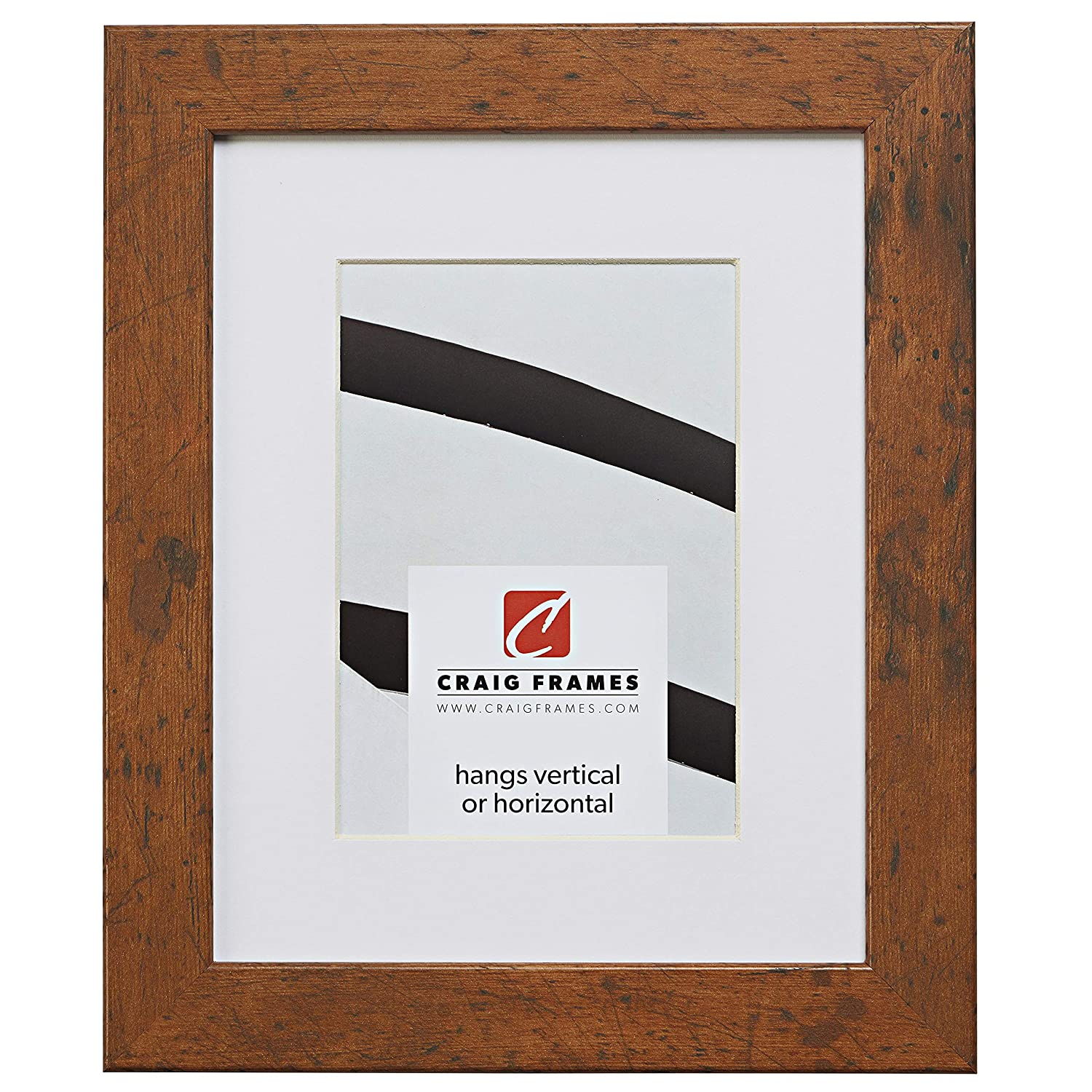Craig Frames 26011 22 x 28 Inch Light Walnut Brown Picture Frame Matted to Display an 18 x 24 Inch Photo