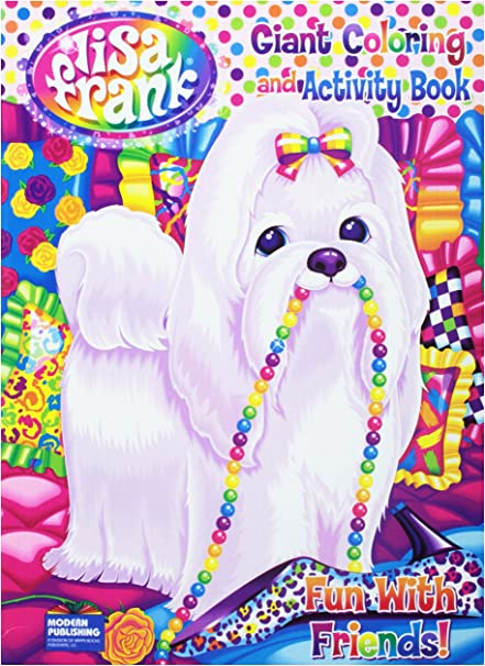 - Amazon.com: Lisa Frank Coloring And Activity Book ~Fun With Friends Puppy  With Pearls Cover 96Pg By Modern Publishing: Toys & Games