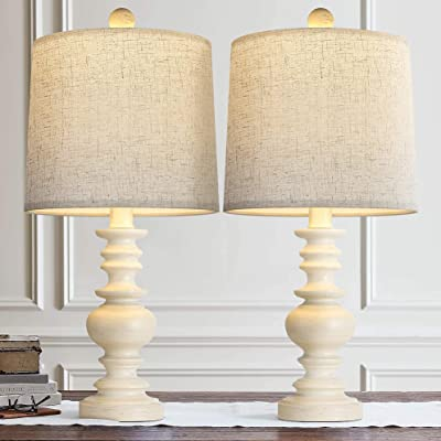 Buy Bobomomo Tradition 20 5 Rustic Table Lamp Set Of 2 For Living Room Farmhouse Bedside Desk Lamps Bedroom Nightstand Vintage Lamps Linen Washed Online In Kazakhstan B08cbtxyc4