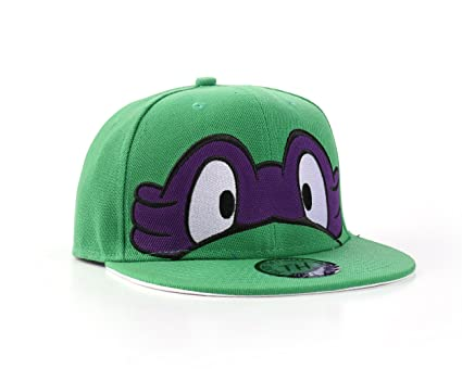 Tortugas Ninja - Gorra de béisbol gorra de visera plana ajustable, morado, Ajustable