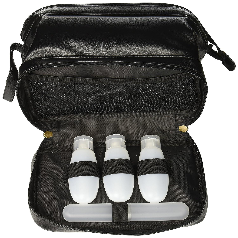 9df9ff1ea0 Amazon.com  Buxton Men s Jumbo Travel Kit W Zip Bottom Bottles ...