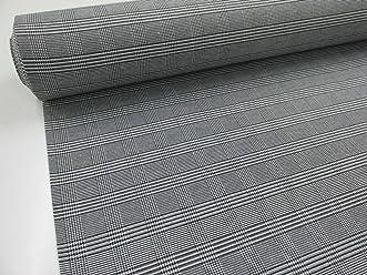 Metraje 0,50 mts tejido cuadros Ref. Gales color Negro, con ancho 2,80 mts.