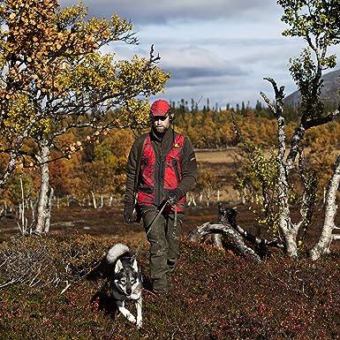 H/ärkila Jagdweste Herren Lynx Safety AXIS MSP/® Red Blaze Dr/ückjagdweste mit R/ückentasche
