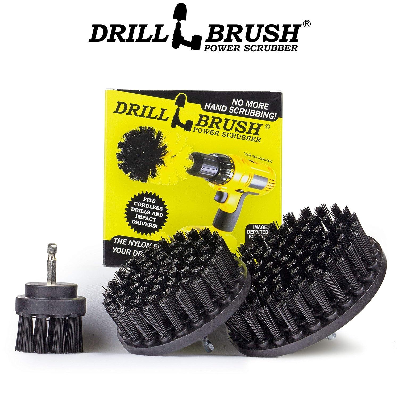 Drillbrush Ultra Stiff Taladro Desarrollado cepillos de limpieza utilizados para servicio pesado de pelado industrial negro
