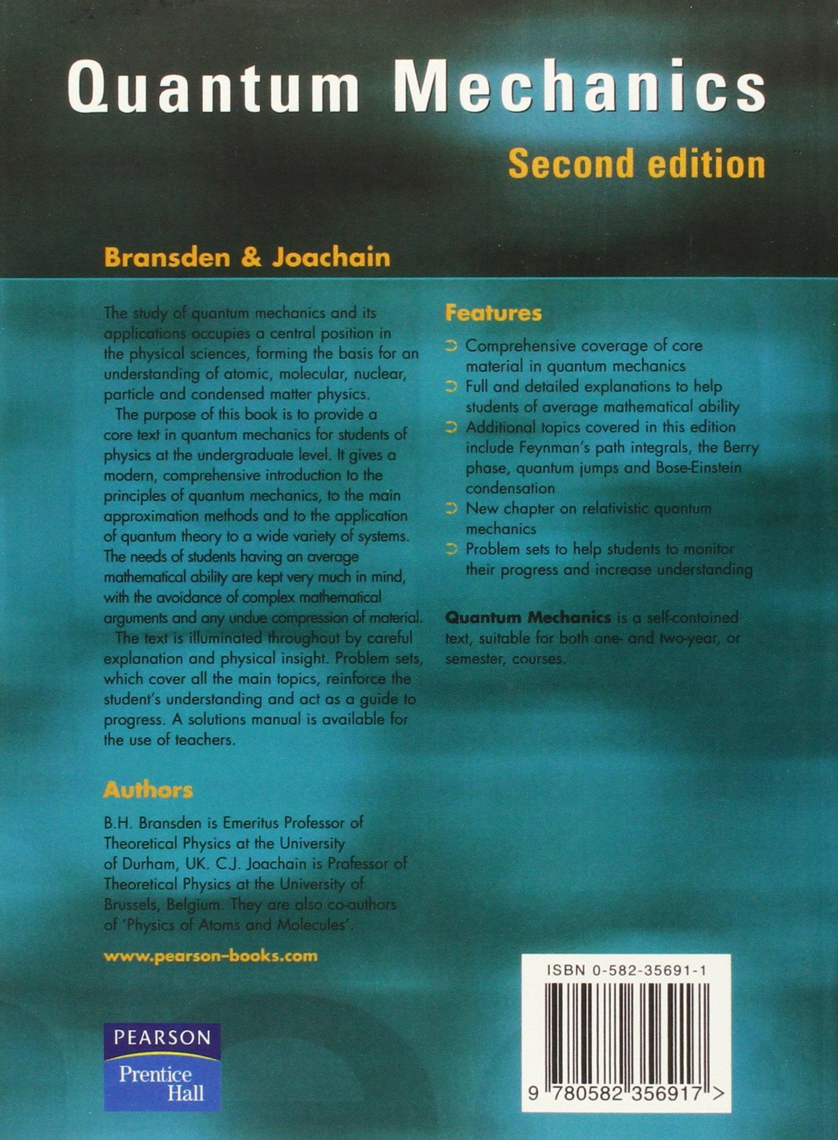 Mechanics pdf quantum bransden