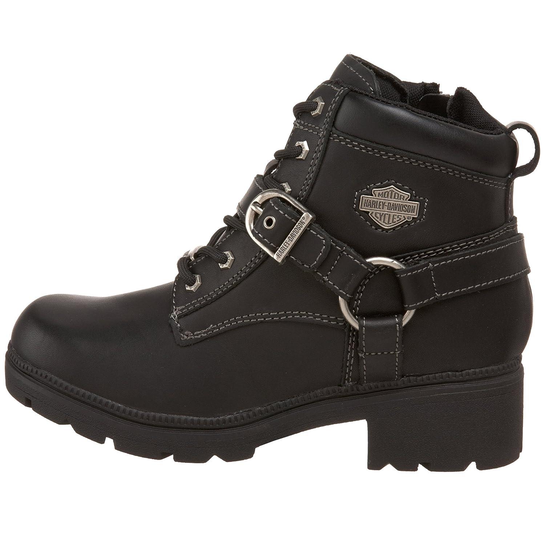 e3cb4a639a37 Amazon.com  Harley-Davidson Women s Tegan 4-Inch Black Lace-Up Boots.  D84424  Harley-Davidson  Shoes