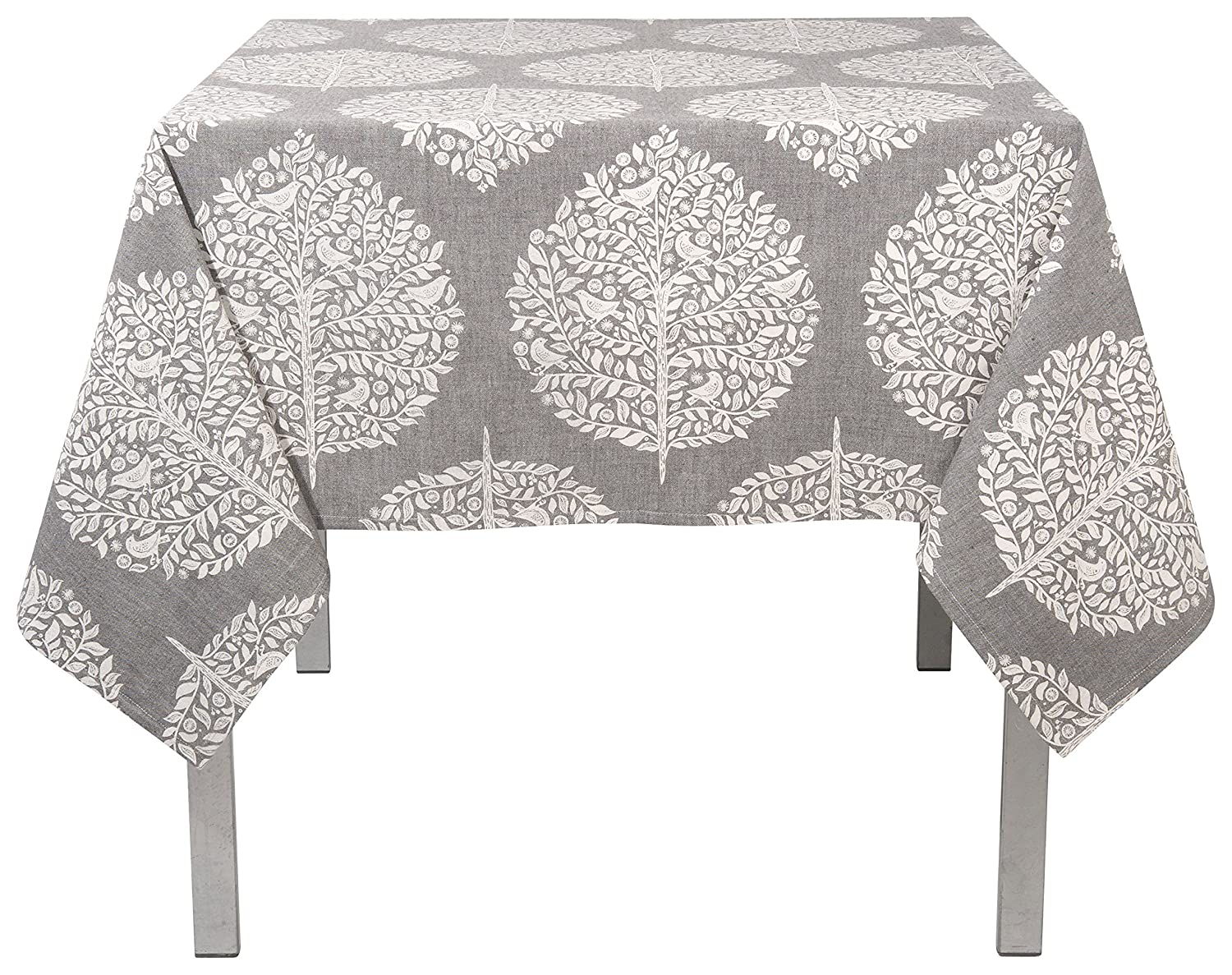 Amazon.com: Now Designs 60 By 90 Inch Cotton Tablecloth, Elmwood Grey  Print: Home U0026 Kitchen
