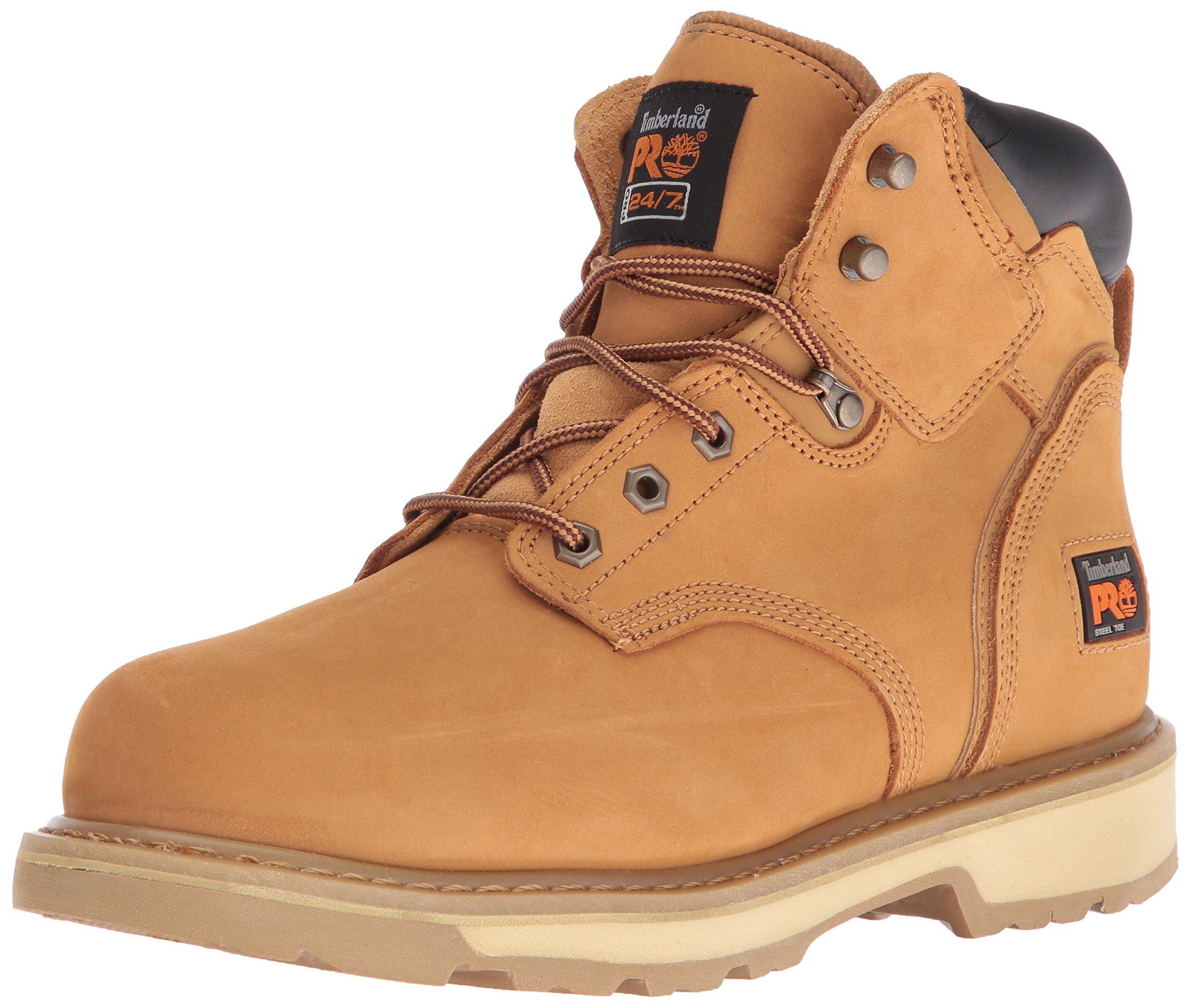 Timberland PRO Men's Pitboss 6'' Steel-Toe Boot, Wheat , 13 EE - Wide