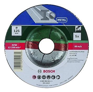 Bosch Diy Schruppscheibe Metall Fur Winkelschleifer 5 Stuck O 125