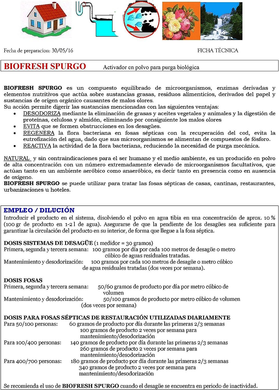 SINTESI SRL BIOFRESH SPURGO Activador para Purga biológica kg.1