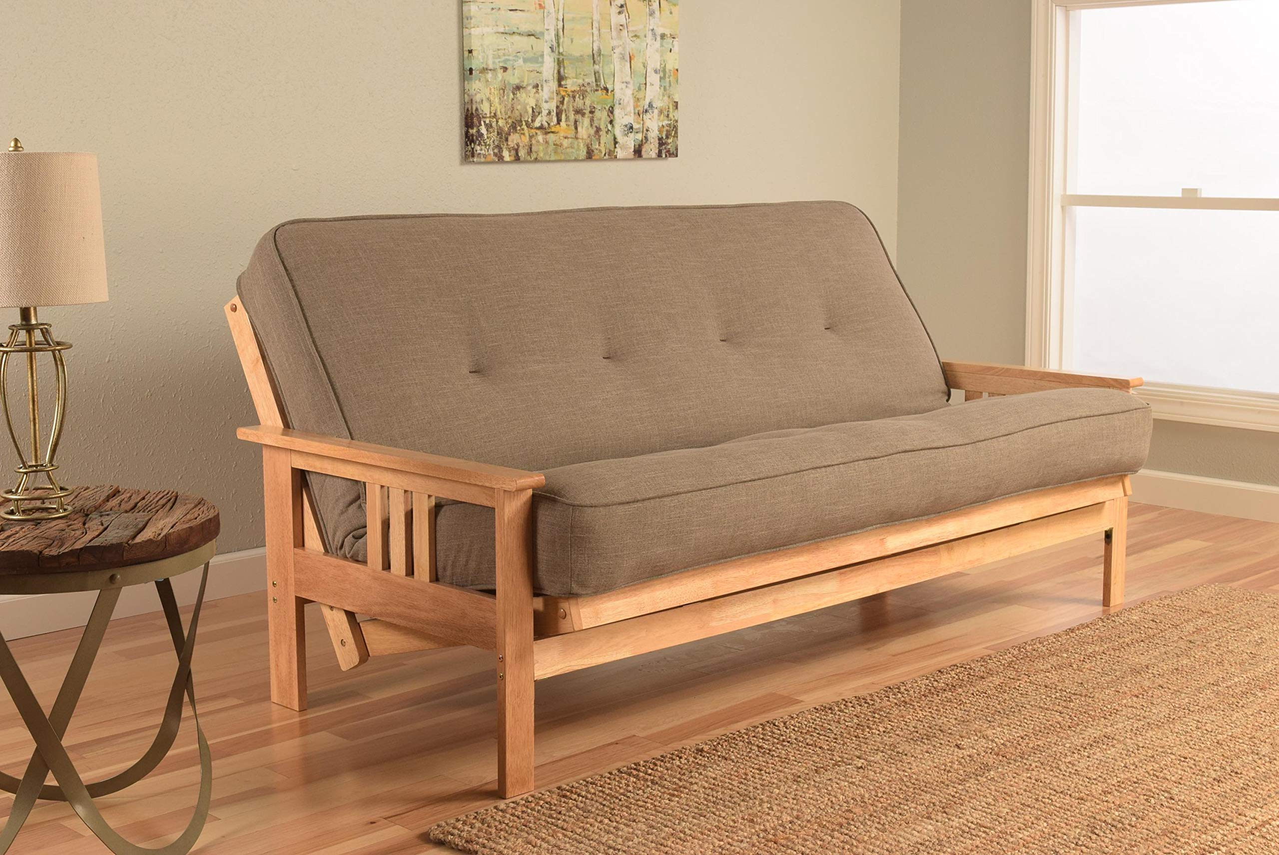 Kodiak Furniture Monterey Futons Set with Natural Finish, Full, Linen Stone by Kodiak Furniture
