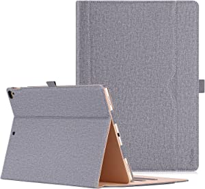 ProCase iPad Pro 12.9 2017/2015 Case (Old Model) - Stand Folio Case Cover for Apple iPad Pro 12.9 Inch (Both 2017 and 2015 Models), with Multiple Viewing Angles, Apple Pencil Holder -Gray