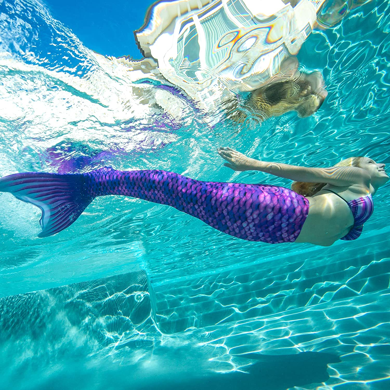 for Girls Boys Fin Fun Wear-Resistant Mermaid Tail Skin Monofin Insert Not Included Adults