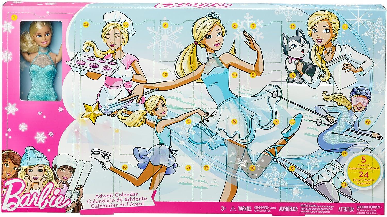 Barbie- Advent Calendar Calendario de Adviento, Multicolor (Mattel FGD01) , color/modelo surtido