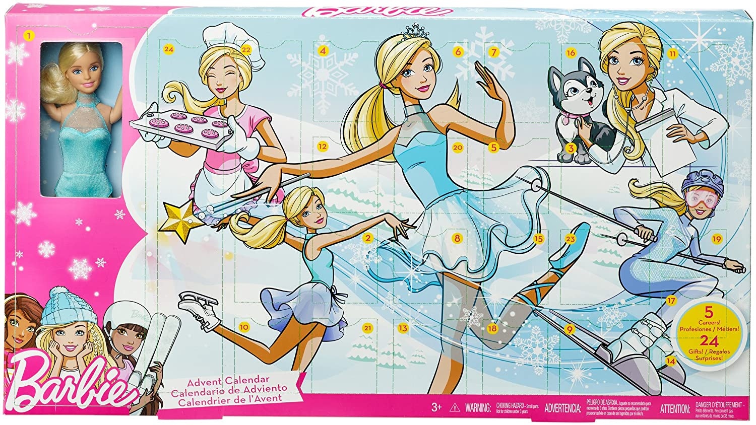Barbie FGD01 Advent Calendar Mattel
