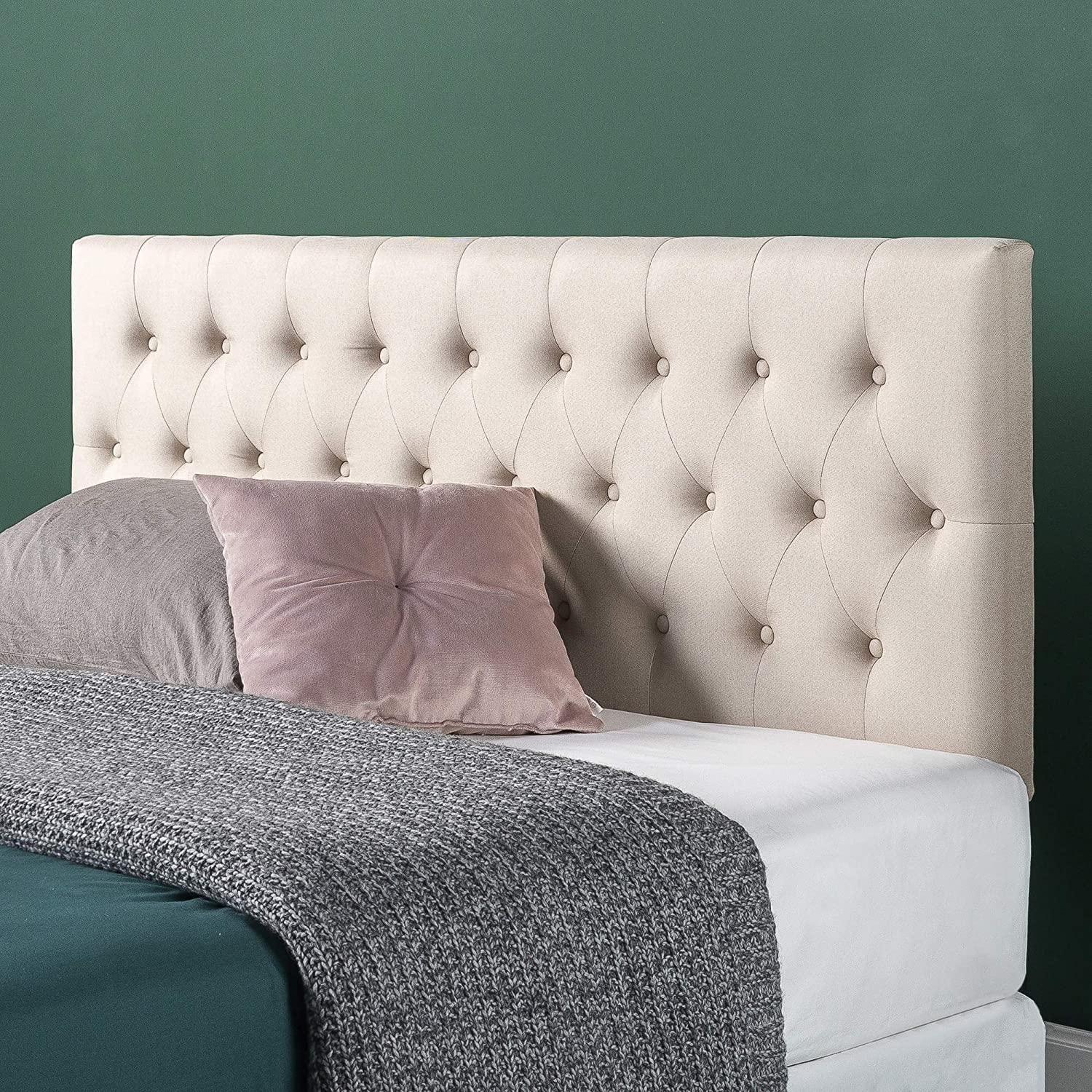 Best value for money headboard for adjustable bed: ZINUS Trina Upholstered Headboard