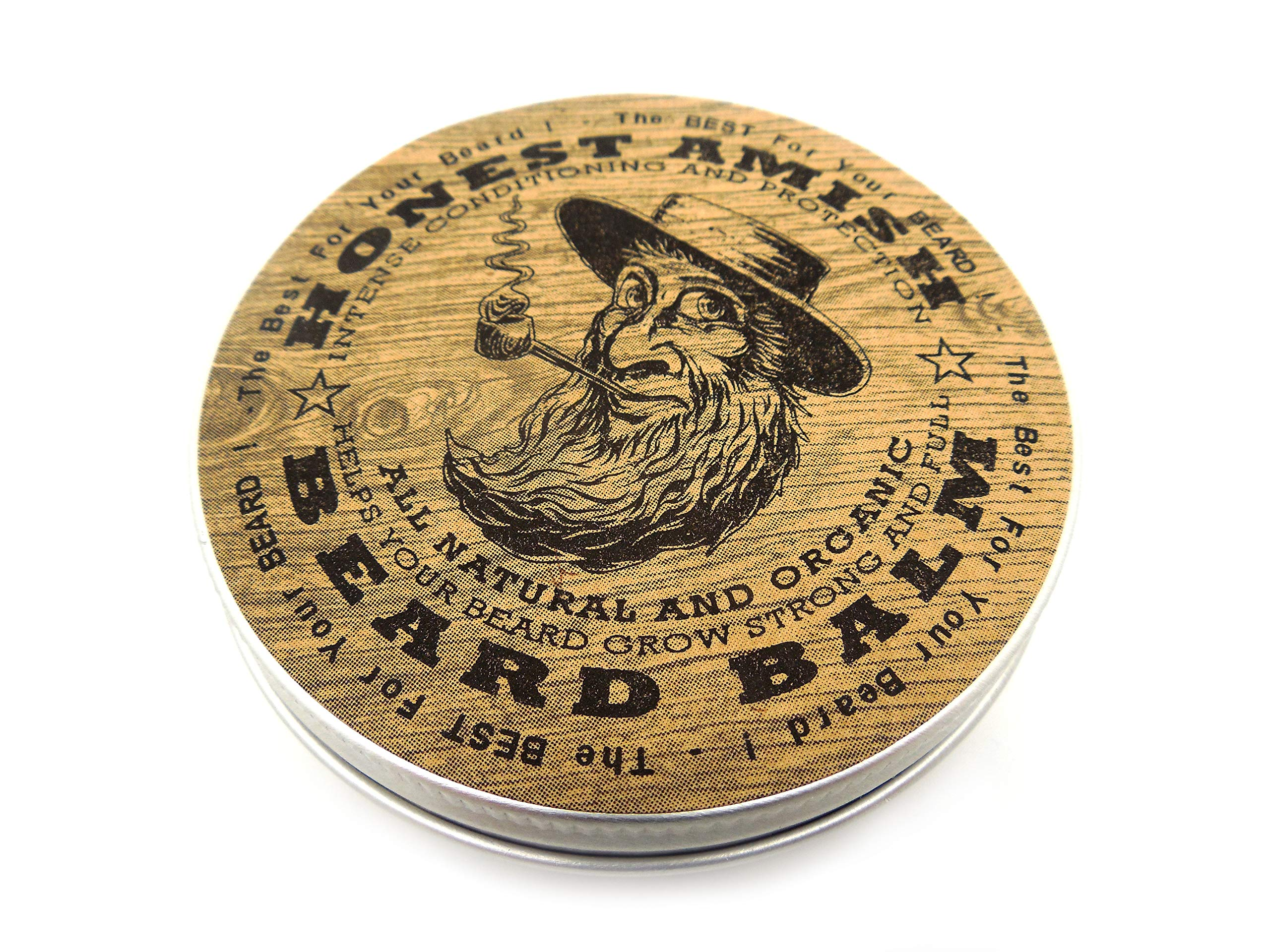 Honest Amish Beard Balm - New Large 4 Ounce Twist Tin