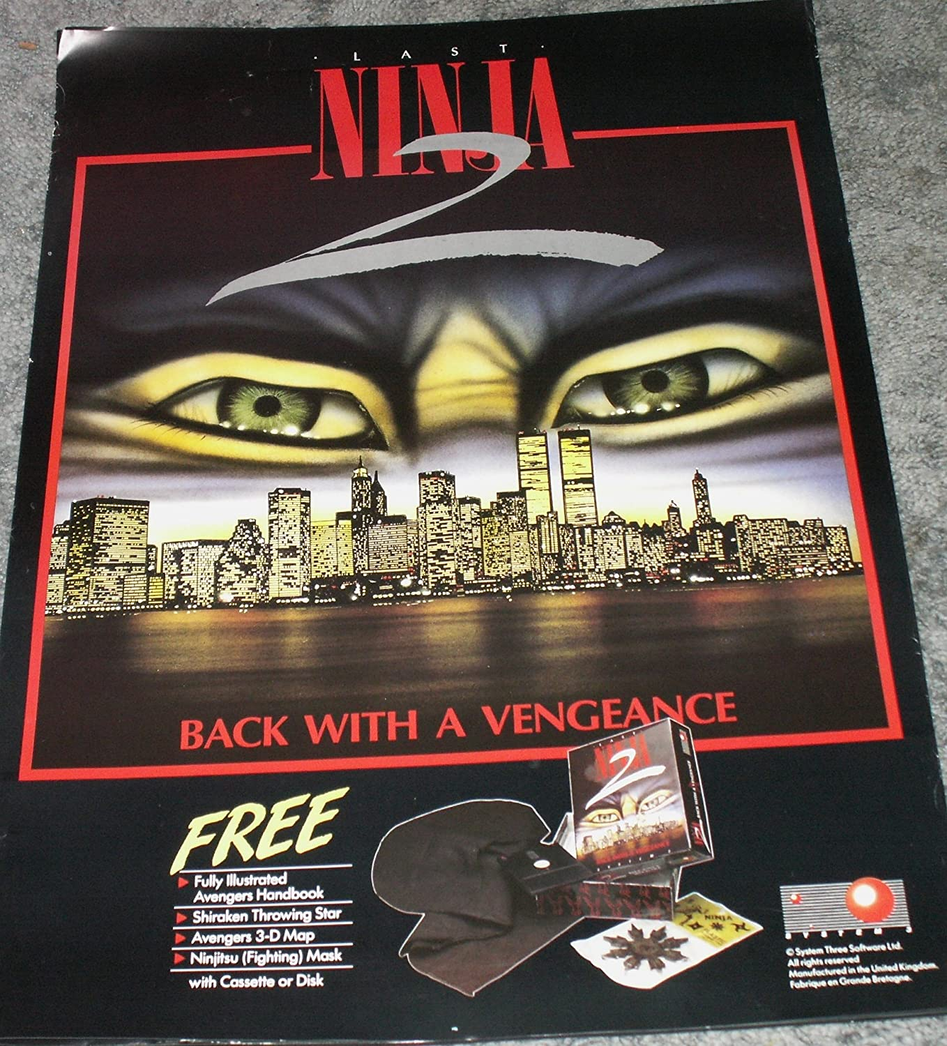 Amazon.com: 1988 The Last Ninja 2 Vintage Computer Game ...