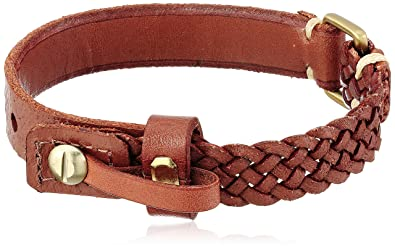 Amazon Com Fossil Vintage Casual Brown Leather Bracelet Jewelry