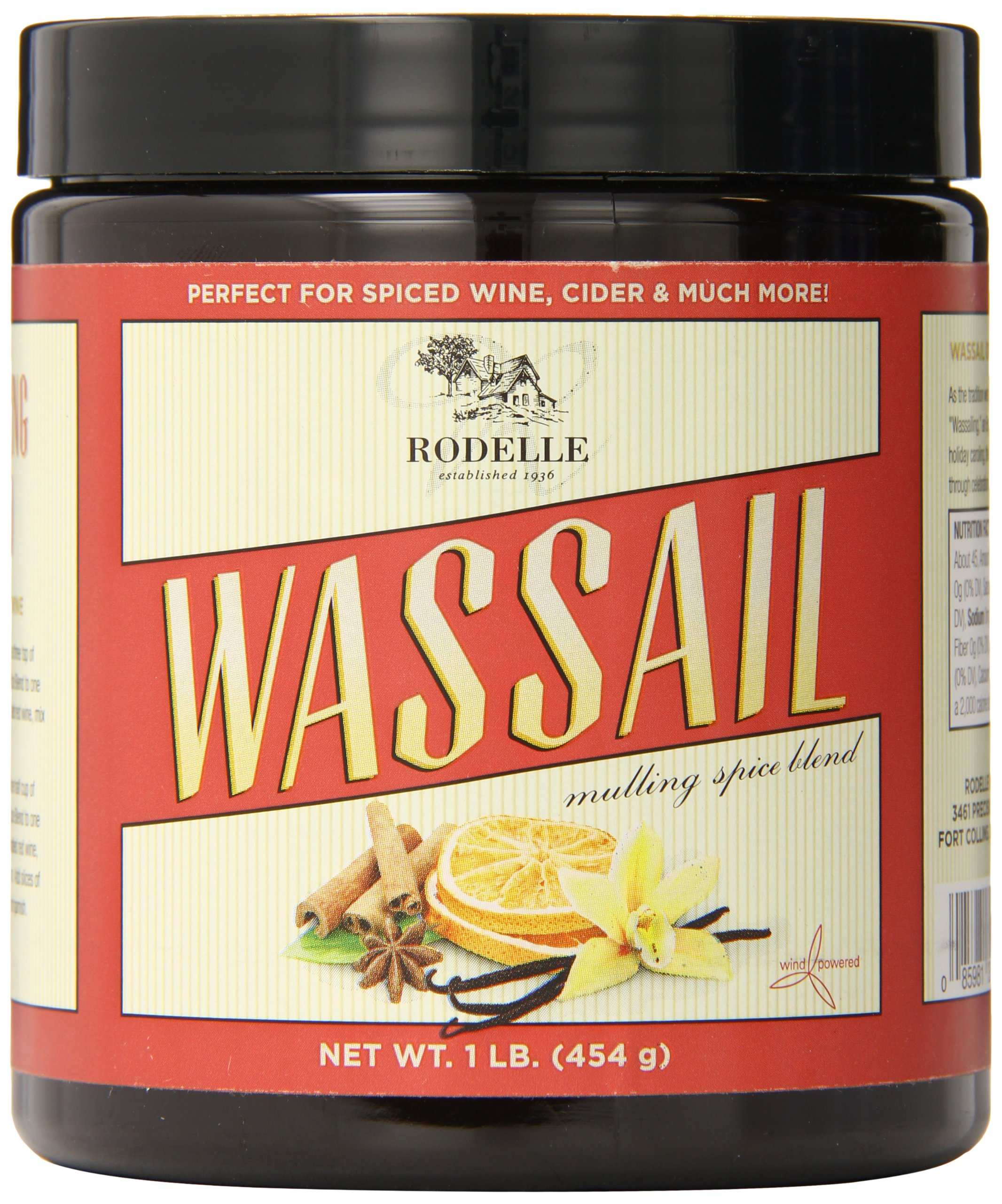Rodelle Wassail Mulling Spice Blend, 16 Oz - Spiced Wine, Apple Cider