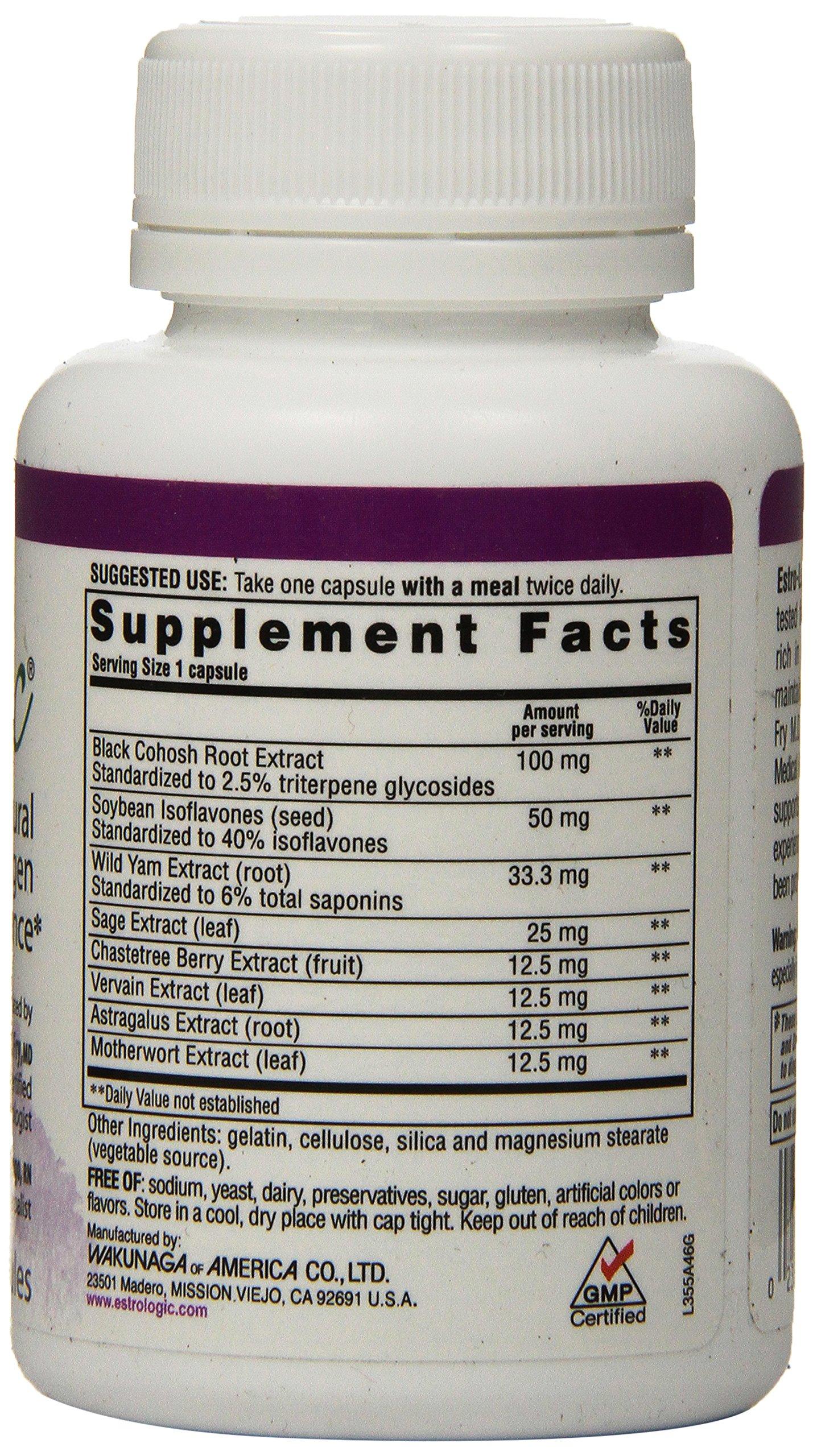 Kyolic Estro-Logic Natural Estrogen Balance (60 Capsules) Hormone Balance Support Supplement for Women Experiencing Menopause or Peri-Menopause