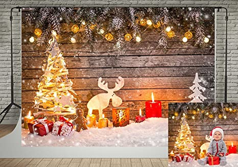 kate 7x5ft christmas photography backdrops wooden wall christmas tree decoration background photo studio