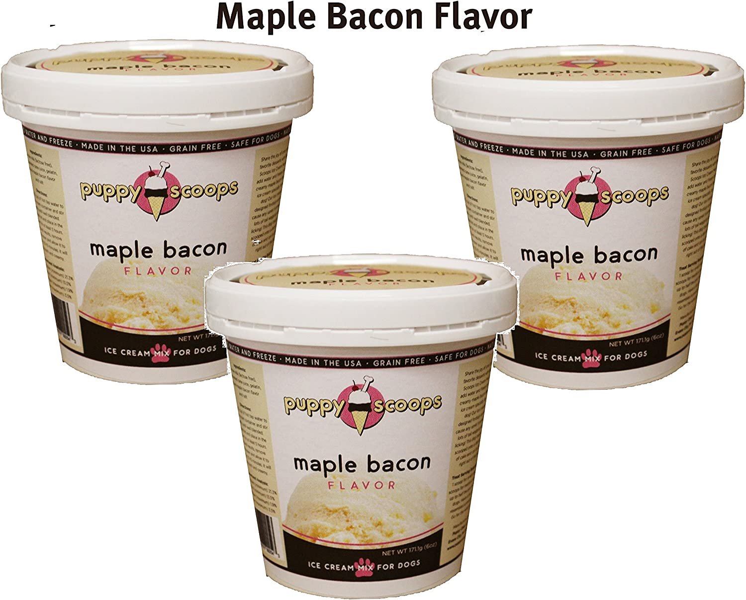 Puppy Cake Puppy Scoops Ice Cream Mix Maple Bacon 3 Pack
