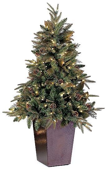 gkibethlehem lighting pre lit pepvc 150 christmas tree in square metal amazoncom gki bethlehem lighting pre lit