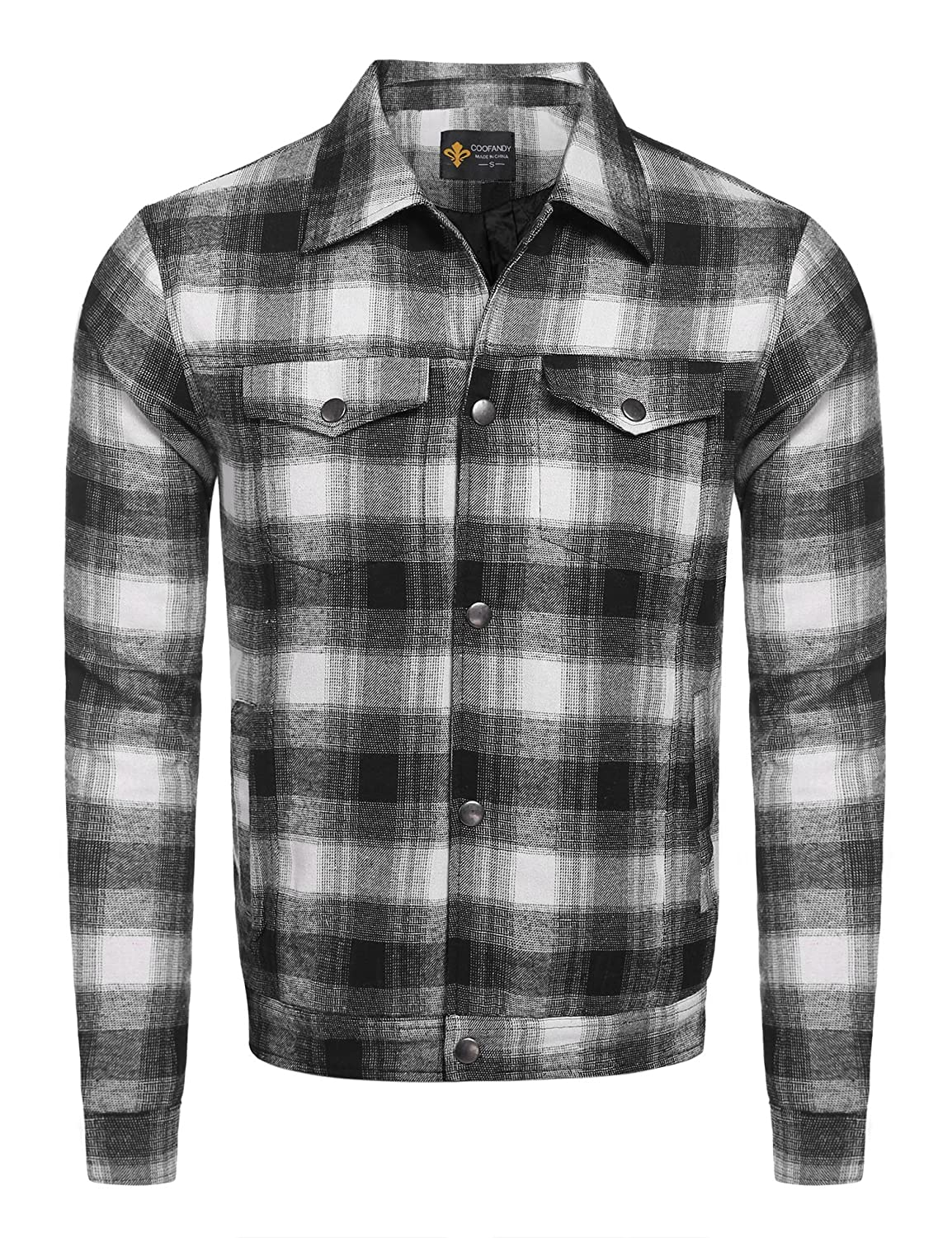1ed0284cdcb 【STYLISH DESIGN】: This Western Lined Overshirt Jacket Is Made Of  Heavyweight Cotton Plaid.