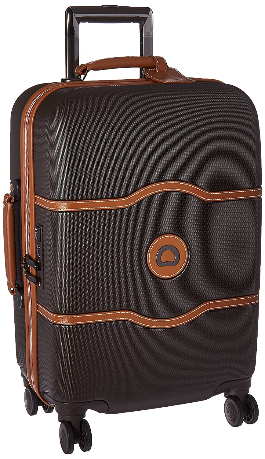 The DELSEY Paris Luggage Chatelet Hard+ Carry On Spinner Suitcase Hardcase travel product recommended by Cacinda Maloney on Lifney.