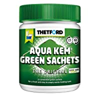Aqua-Kem vert sachets Boîte rigide x 15