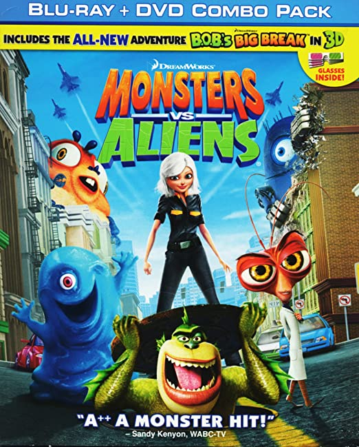 Monsters Vs Aliens [USA] [Blu-ray]: Amazon.es: Cine y Series TV