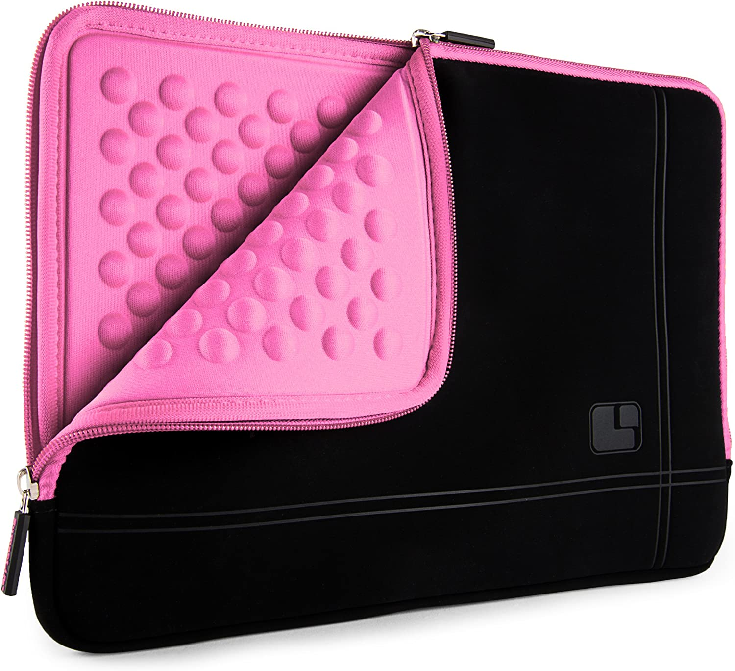 SumacLife 15.6inch Shock Absorbing Pink Laptop Sleeve Suitable Acer Aspire, Nitro, Chromebook, Spin, TravelMate, Swift