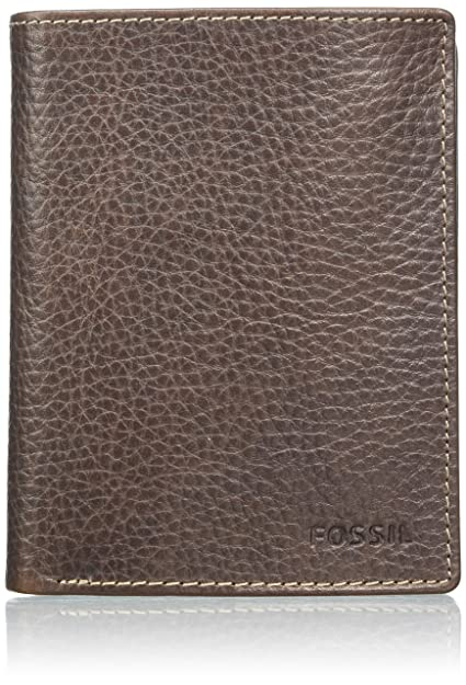 Fossil - Lincoln, Carteras Hombre, Braun (Brown), 2.5x12.7x10