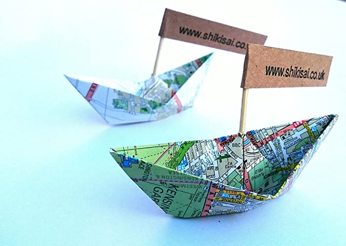 Origami boat wedding decor place cards map party decor beach origami boat wedding decor place cards map party decor beach theme junglespirit Image collections