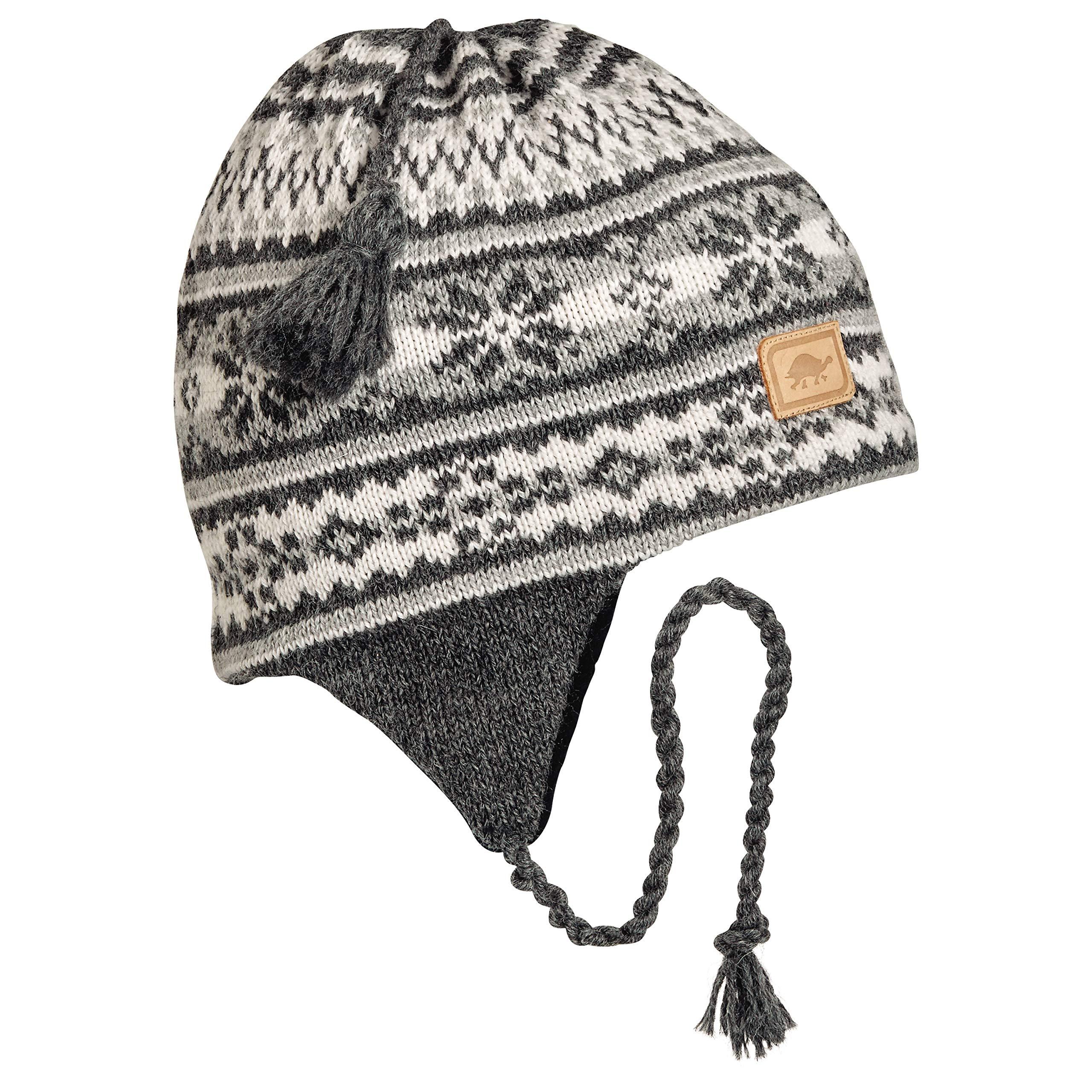 Turtle Fur Women's Nighthorse, Classic Wool Ski Earflap Hat, Charcoal Heather by Turtle Fur (Image #1)