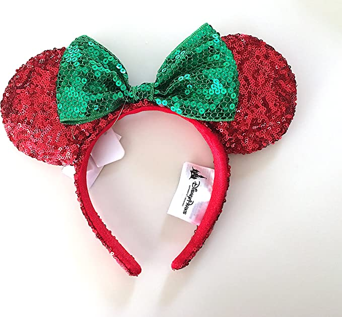 Milwaukee Brewers Minnie Mouse Ears with Champagne Sequin Bow