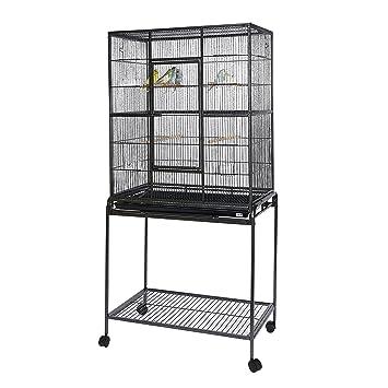 Kookaburra - Jaula para pájaros - Jaula de vuelo - para pecera canaria Budgie Cockatiel y pequeños loros: Amazon.es: Productos para mascotas