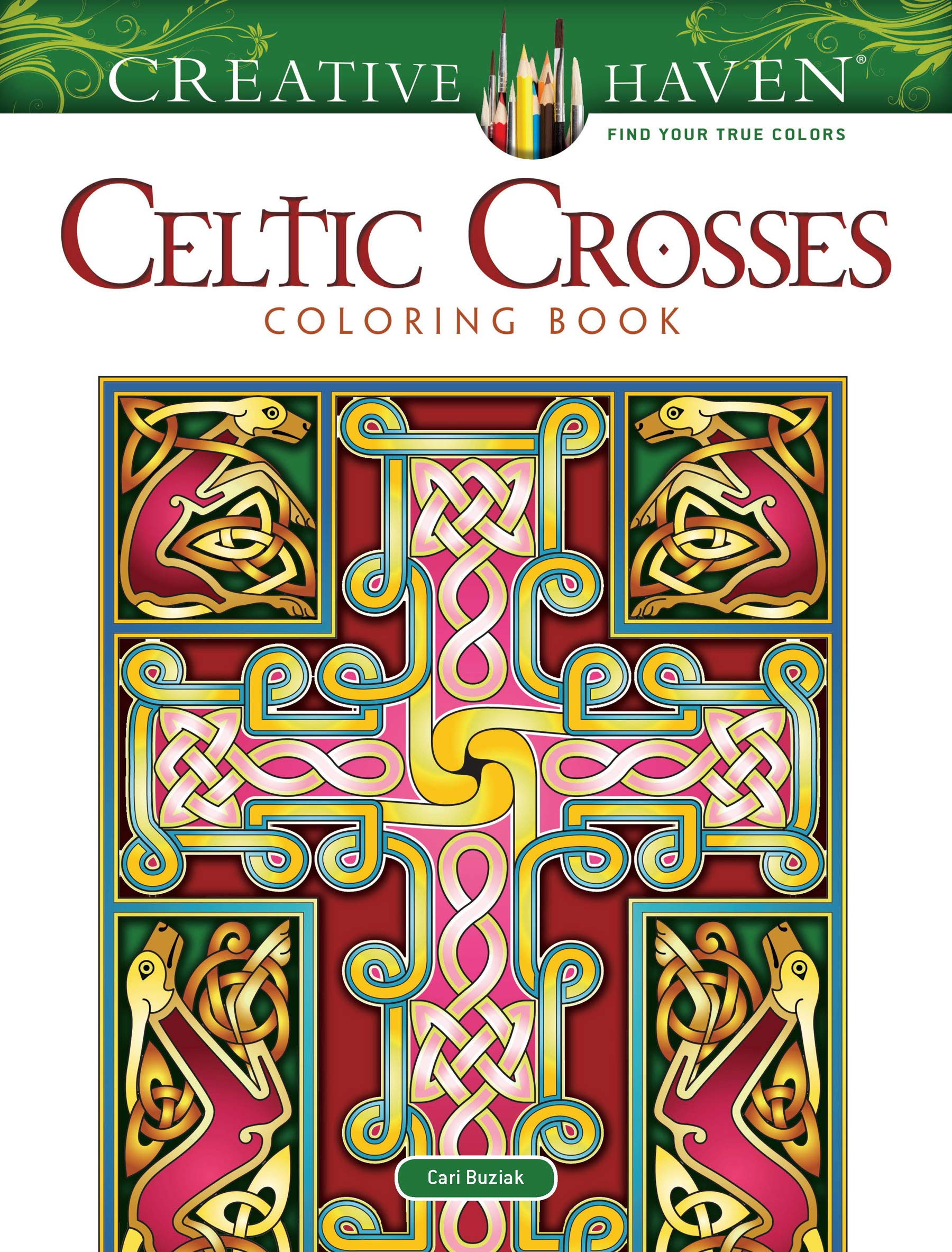 Amazon.com: Creative Haven Celtic Crosses Coloring Book (Adult Coloring)  (0800759826681): Cari Buziak: Books